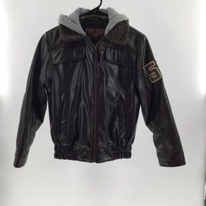 Hawke&Co boys bomber jacket with faux coll…